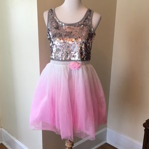 Size 18 1/2 girls Justice Tulle Dress